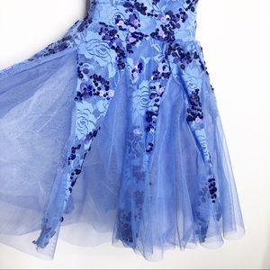 Weissman Costumes - Weissman blue sequins dance costume small child